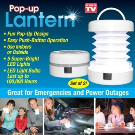 Pop-Up Lantern LED Light - White
