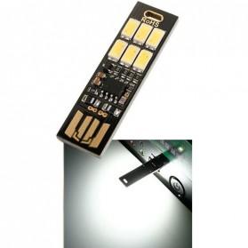 Lampu Belajar / Lampu USB - Lampu LED Mini USB 1W 50LM 6000K Cool White - Black
