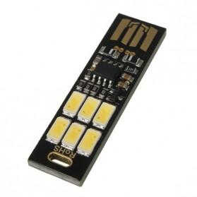 Lampu LED Mini USB 1W 50LM 6000K Cool White - Black - 5