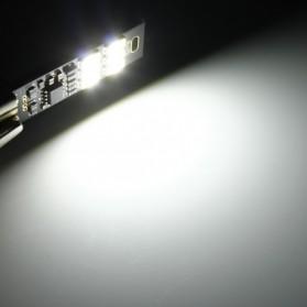 Lampu LED Mini USB 1W 50LM 6000K Cool White - Black - 7