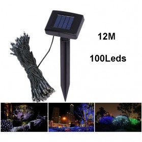 TaffLED Solar Powered Decoration Light 100 LED / Lampu Hias Taman - YY-3210 - Black - 3