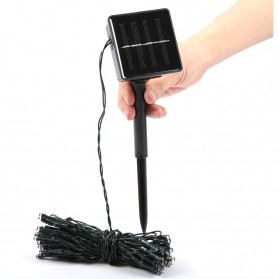 TaffLED Solar Powered Decoration Light 100 LED / Lampu Hias Taman - YY-3210 - Black - 11