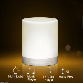 EQUANTU Smart Touch Portable Lamp with Bluetooth Speaker - CL-671 - White - 3