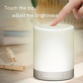 EQUANTU Smart Touch Portable Lamp with Bluetooth Speaker - CL-671 - White - 4