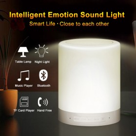 EQUANTU Smart Touch Portable Lamp with Bluetooth Speaker - CL-671 - White - 6