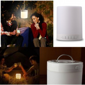 EQUANTU Smart Touch Portable Lamp with Bluetooth Speaker - CL-671 - White - 10