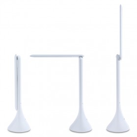 Lampu Meja Foldable Touch LED Desk Lamp 350Lux - 160604 - White - 2