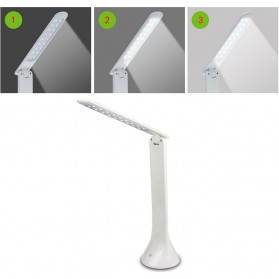 Lampu Meja Foldable Touch LED Desk Lamp 350Lux - 160604 - White - 3