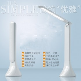 Lampu Meja Foldable Touch LED Desk Lamp 350Lux - 160604 - White - 8