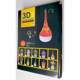 ICOCO Lampu 3D LED Transparan Design Iron Man - MK4 - White - 7