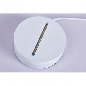ICOCO Lampu 3D LED Transparan Design Iron Man - MK4 - White - 5