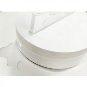ICOCO Lampu 3D LED Transparan Design Iron Man - MK4 - White - 6