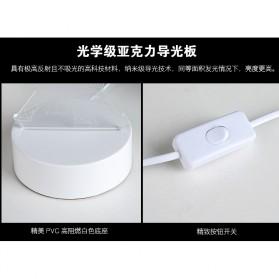 Lampu 3D LED Transparan Desain Eiffel Tower - G5711A - White - 7