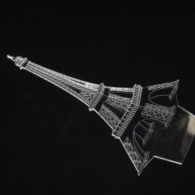 Lampu 3D LED Transparan Desain Eiffel Tower - G5711A - White - 3