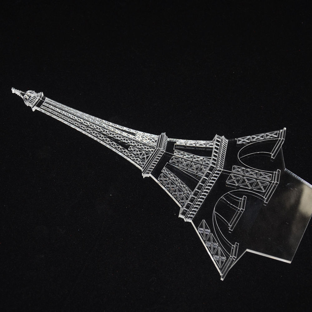 Lampu 3D LED Transparan Desain Eiffel Tower G5711A White JakartaNotebook