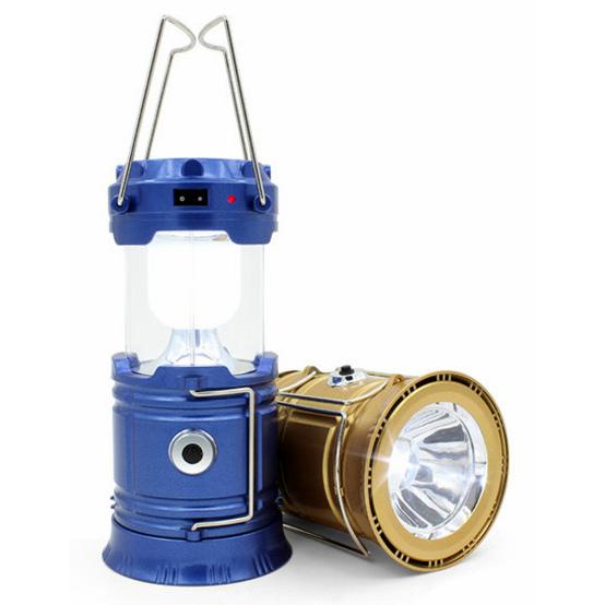 ... Lampu Lentera Camping Tenaga Matahari dengan Senter LED - SX-5800T - Blue - 1 ...
