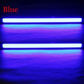 DIY Lampu DRLs LED Strip Warna Biru Waterproof DC12V 17cm 2 PCS - COB-17 - Blue - 5