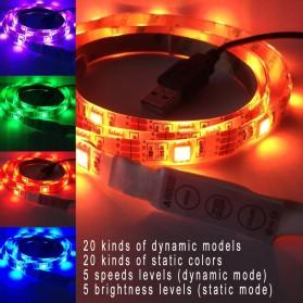 LED Strip RGB Waterproof 5050 90cm with Controller USB 5V - L5 - Black - 2