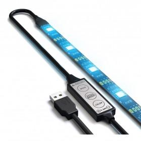 LED Strip RGB Waterproof 5050 90cm with Controller USB 5V - L5 - Black - 5