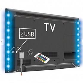 Genssi LED Strip RGB 5050 50cm 2 PCS dengan 5V USB Controller & Remote Control - Black - 2