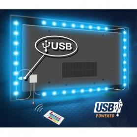 Genssi LED Strip RGB 5050 50cm 2 PCS dengan 5V USB Controller & Remote Control - Black - 3
