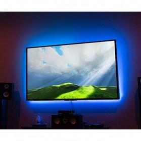 Genssi LED Strip RGB 5050 50cm 2 PCS dengan 5V USB Controller & Remote Control - Black - 5