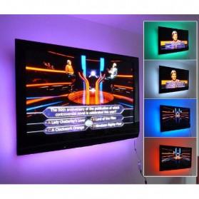 Genssi LED Strip RGB 5050 50cm 2 PCS dengan 5V USB Controller & Remote Control - Black - 6