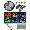 Lampu Hias LED - Led Strip Flexible Light Waterproof 5050 RGB 5M with 44 Key Remote Control - White