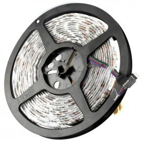 Led Strip Flexible Light Waterproof 5050 RGB 5M with 44 Key Remote Control - White - 2