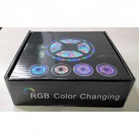 Led Strip Flexible Light Waterproof 5050 RGB 5M with 44 Key Remote Control - White - 7