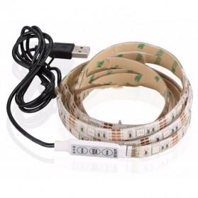 MALITAI Mood Light Led Strip 5050 RGB 2M with USB Controller - SMD2835 - White - 2