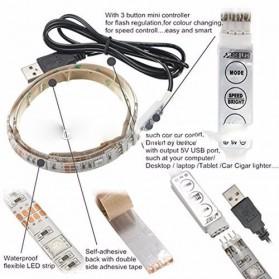 MALITAI Mood Light Led Strip 5050 RGB 2M with USB Controller - SMD2835 - White - 3