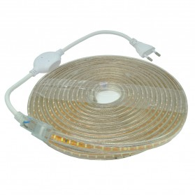 Led Strip Putih SMD 3014 with Controller EU Plug 220V 2700-3500K 10M - White