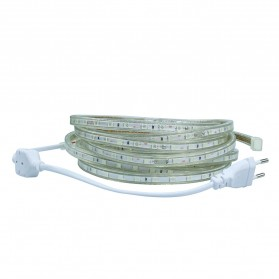 Led Strip Putih SMD 3014 with Controller EU Plug 220V 2700-3500K 10M - White - 2