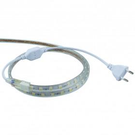 Led Strip Putih SMD 3014 with Controller EU Plug 220V 2700-3500K 10M - White - 3