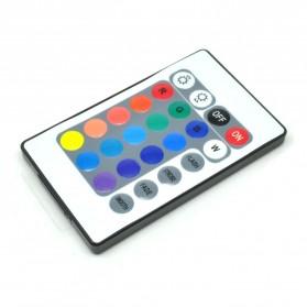 HAMBODER RGB LED Strip 3528 300 LED 5 Meter with 12V 2A Light Controller & Remote Control - Black - 3