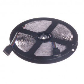 HAMBODER RGB LED Strip 3528 300 LED 5 Meter with 12V 2A Light Controller & Remote Control - Black - 5
