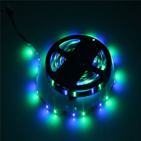 HAMBODER RGB LED Strip 3528 300 LED 5 Meter with 12V 2A Light Controller & Remote Control - Black - 6