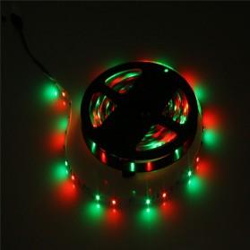 HAMBODER RGB LED Strip 3528 300 LED 5 Meter with 12V 2A Light Controller & Remote Control - Black - 7