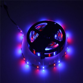 HAMBODER RGB LED Strip 3528 300 LED 5 Meter with 12V 2A Light Controller & Remote Control - Black - 8