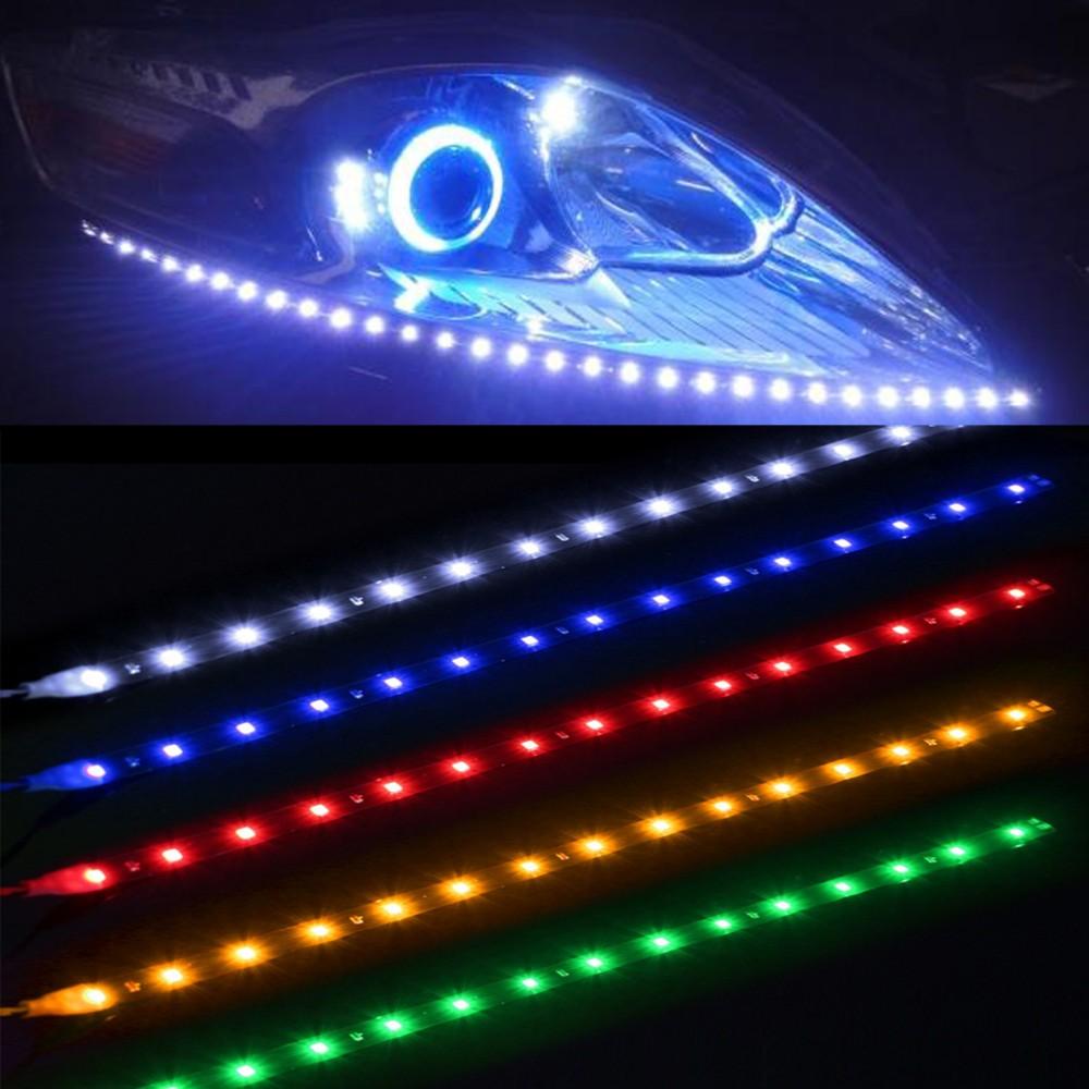 led strip lampu depan mobil waterproof 5w 15smd 30cm white. Black Bedroom Furniture Sets. Home Design Ideas