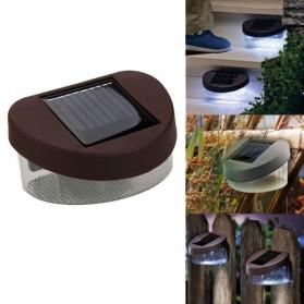 Lampu Solar Taman LED Solar Lamp Outdoor Garden White - HBT-1501 - Black - 2