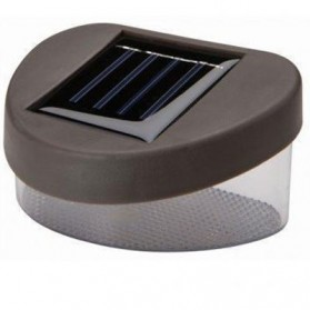 Lampu Solar Taman LED Solar Lamp Outdoor Garden White - HBT-1501 - Brown