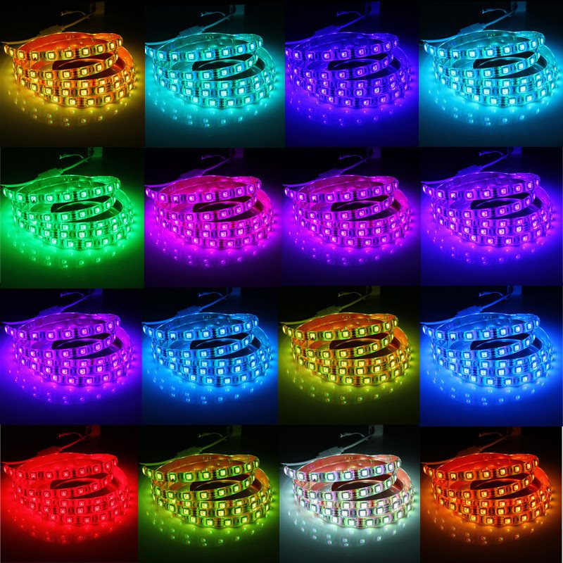 Lampu Led Strip 5050 RGB 16 Colors 1M With Remote Control