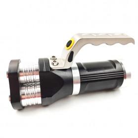 TaffLED Senter LED Flashlight Rechargeable 40W 6000 Lumens - TM28 - Black