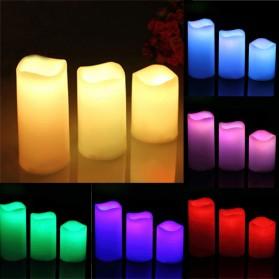 Lilin LED RGB dengan Remote 3 PCS - WY-006 - White - 2