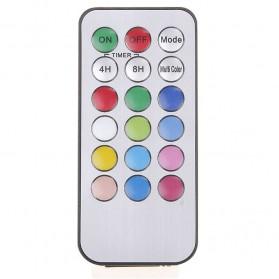 Lilin LED RGB dengan Remote 3 PCS - WY-006 - White - 6