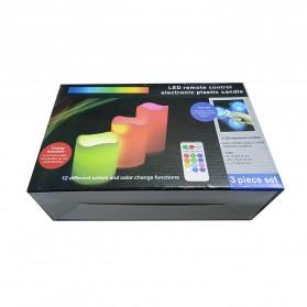 Lilin LED RGB dengan Remote 3 PCS - WY-006 - White - 7