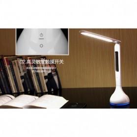 Lampu Meja RGB dengan Jam Temperatur 3750-4250K - Q2 - White - 4