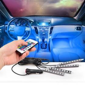 SAARMAT Lampu LED Car Interior Light 5050 RGB + Remote Control - APPFWD1 - 8